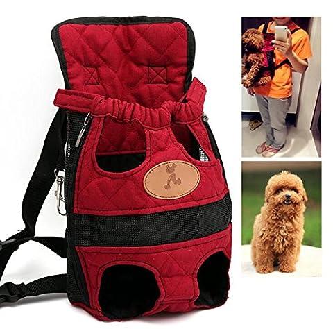 zmal Pet Travel Rucksack, verstellbar Pet vorne Rucksack Träger Schulter prothorax Staubbeutel für kleine Hunde und Katzen Outdoor Travel tragbare (3 Lb Paket)