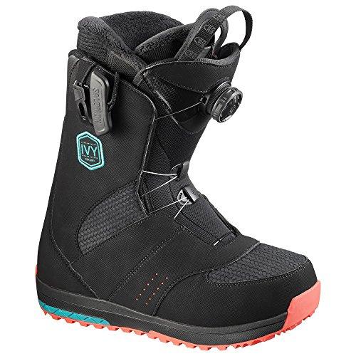 Salomon Snowboard-Ivy Boa Str8Jkt 16/17, Farbe Black, Größe UK-6.5 6.5 Snowboard-boots