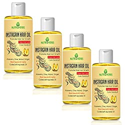 Nutriherbs Instagain hair oil for men & women | growth 100 ml | (Pack of 4)