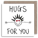 Cute Hug Grußkarte–Funny Congratulations–Get Well Soon–Jahrestag–Freundschaft–Beziehung–Good Luck–Angst–New Job–New Home–Vielen Dank–Prüfung Ergebnisse Karte