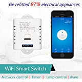Moon * Star Smart Switch, GreatStar Wi-Fi Kontrolle Smart Switch, TIMING Funktion mit Smartphone Android & iOS, kompatibel mit AMAZON Alexa Google nest für Haus, LED Energieeinsparung Lichter, weiß