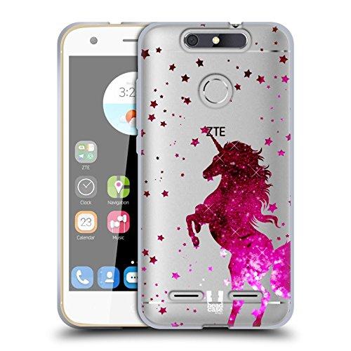 Head Case Designs Pink Einhorn Funkeln Soft Gel Hülle für ZTE Blade V8 Lite