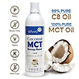 AIWO PURE C8 MCT Oil | 100% Caprylic Acid | 3X More Ketones