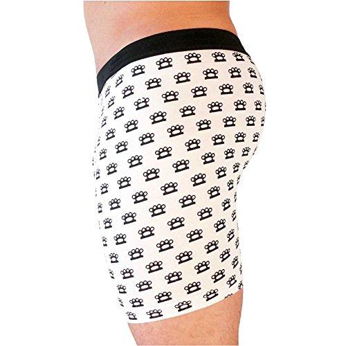 HERREN BOXERSHORTS l Unterhosen Shorts Slips l Rockabilly Totenkopf Marihuana l in 4 FARBEN l 100% Baumwolle l S M L XL XXL 11091-675