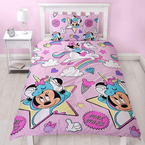 Juego Funda edredón Funda Almohada Minnie Mouse Unicorns