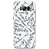Brainiac l'Intelligence Geek Nerd Science Boffin téléphone Housse/Coque rigide pour téléphone portable Samsung, plastique, Square Paper Formula & Equation, Samsung Galaxy S8
