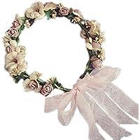JUNGEN 1 PCS Fleur Couronne Bandeau Floral Guirlande Couronne Colliers de Fleurs Arc Guirlande pour Mariage Festival Partie Voyage (13 fleur Style)