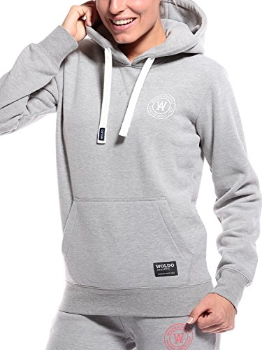 WOLDO Athletic Damen Hoodie Kapuzenpullover (M, grey) (Adidas Hat Athletic)