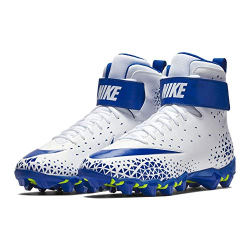 NIKE Men\'s Force Savage Shark Football Cleat - White/Game Royal-Game Royal - 880109-141 (10 D(M) US)
