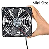 ELUTENG 120mm Fan USB Computer Fans USB Fan 54.56CFM 1500RPM USB Powered Cooling Fan with Metal Grill Guard 5V Fan Compatible for PC / PS4 / Xbox/TV Box/Laptop/AV Cabinet etc.