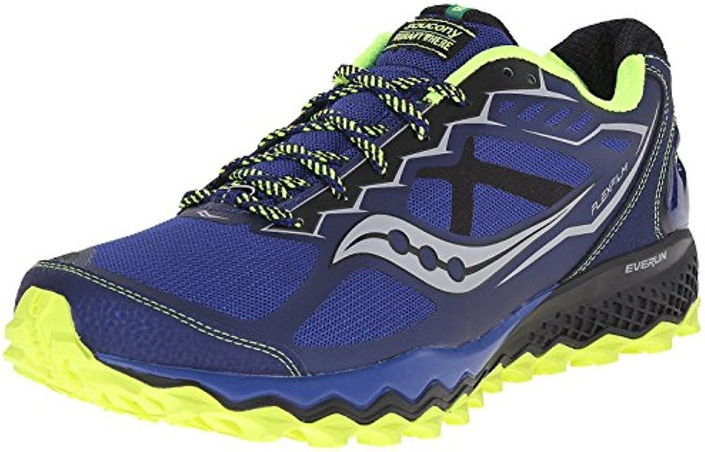 Saucony Men's Peregrine 6 Trail Running Shoe  Blau (Blue/Citron/Black)  40 D(M) EU/6 D(M) UK
