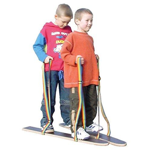pedalo® Sommerski Hand-Fußschlaufe I 2 - 4 Spieler I Koordination I Rasenski I Wiesenski I Kindergarten I Teamspiel (80 cm - 2 Spieler)