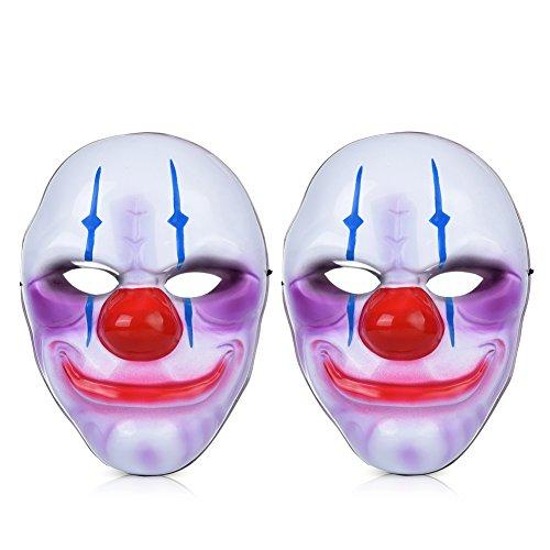 Vbiger maschera di halloween vampiro zucca clown maschera del fantasma 2 pcs