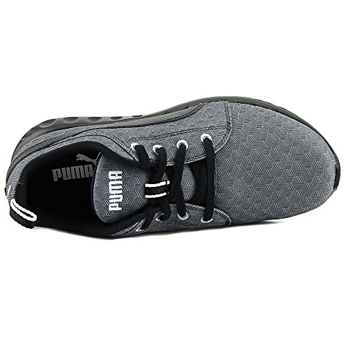 Puma Carson Runner 400 Jr Cube Synthétique Chaussure de Course Dark Shadow-Black-White