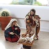 Krippenfiguren Set 12 cm mit Kleidung | Weihnachtsartikel Heilige Familie 12 cm | Krippen | Krippenfiguren-Set | Krippenfiguren