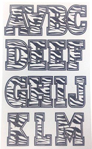 floqué Zebra Bold 43 Lot de lettres et chiffres à coller