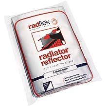 Radflek - Reflectores para radiadores (5 hojas, 4 tiras adhesivas reflectantes, para 5-10 radiadores)