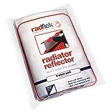Radflek Reflexionsfolie für Heizkörper, mit reflektierendem Radstik-Klebeband, 5Radflek-Folien/ 4 Radstik-Streifen, für 10 oder mehr Heizkörper