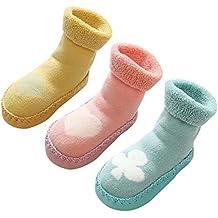 ce9bedd75 LIUCHENGHANG - Pack de 3 Pares de Zapatillas de Casa para Invierno Anti-slip  con