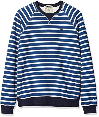 Garment Dyed Crew Shirt (Scotch & Soda Jungen Sweatshirt Garment Dyed Crew Neck Sweat, Mehrfarbig (Combo C 219), 140 (Herstellergröße: 10))