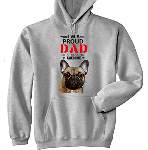 teesquare1st French Bulldog Frenchie - IM A Proud Dad Sudadera con Capucha Size...