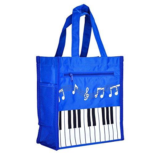 BestSounds Klavier, Tastenmusik, Handtasche, wasserdichte Oxford Stoffeinkaufstasche Blue Big blau (Zubehör Big Tote Canvas)