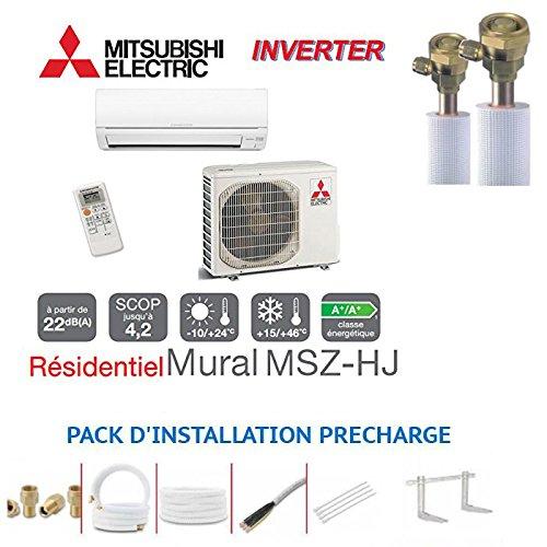 PARED INVERTER MITSUBISHI MSZ-HJ50VA PARA 50M2+ KIT PRET A PôSER PASTORA AL VACIO 6METRES
