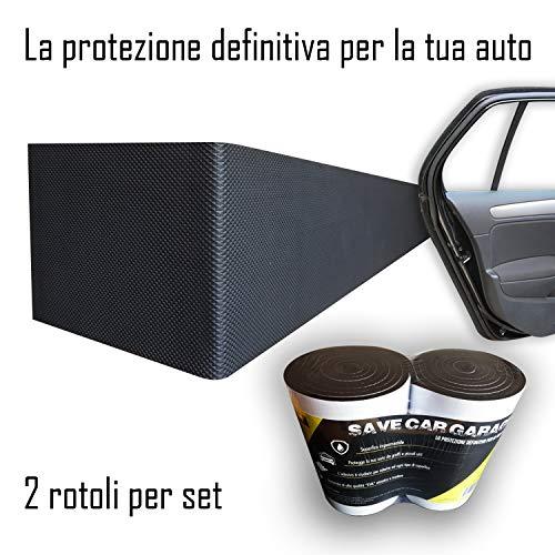 Paracolpi Garage Auto Set Da 2 Rotoli Adesivi Massimo Spessore 6,5mm Protezione Portiere Paraurti Resistente All'Acqu