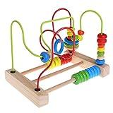 tiyee Holz Kleinkind Spielzeug Kreis Bead Maze Lernspielzeug Geschenk für Kinder Kinder für Bautechnik für Jungen und Mädchen Alter 3, 4 und 5 und über   Kreatives Spaß-Set Kinder