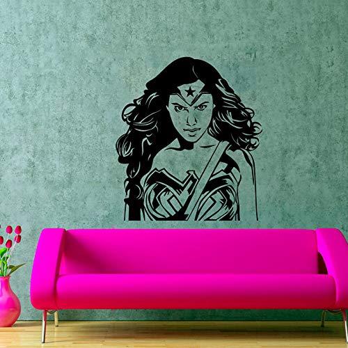 Super Girl Comics-Held-Kunst-dekorativer Aufkleber-Wunder-Frauen-Silhouette-Entwurfs-Zimmer-Raum-Grafik-Aktionsfilm-Plakate