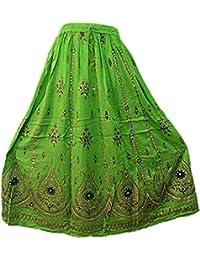 f2f727950f Classic Wear Womens Indian Ethnic wear & Summer wear Dresses Ankel Length Skirts  Printed Maxi Skirts