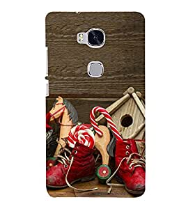 Red Boots with Toys 3D Hard Polycarbonate Designer Back Case Cover for Huawei Honor 5X :: Huawei Honor X5 :: Huawei Honor GR5