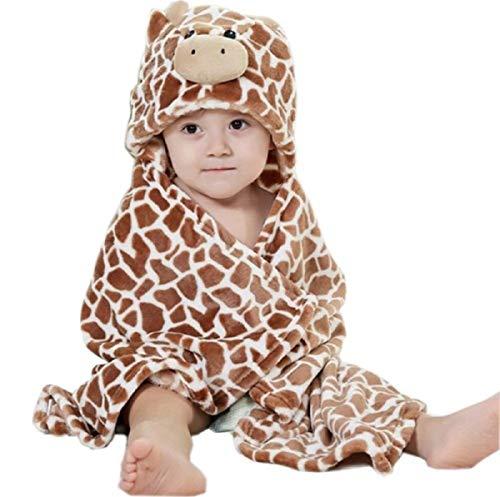 Bienbien asciugamano con cappuccio bambino animali bagno neonato accappatoio flanella coperta in pile per neonati o bambini regalo