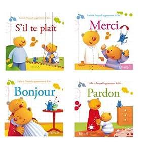 """Livre D'eveil """"lulu Et Poupadi Apprennent A Dire..."""" Lot De 4 [Jouet]"""