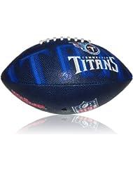 Wilson Football NFL Junior Tennessee Titans Logo - Balón de fútbol americano ( infantil, caucho ) , color multicolor, talla 5