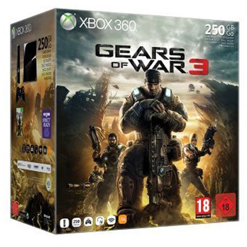 Console Xbox 360 250 Go + Gears of war 3