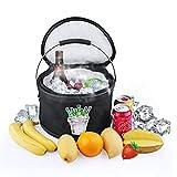 Borsa termica pieghevole, Tpfocus Icebox pieghevole secchio borsa termica isolante termico Bucket Cooler box pieghevole per auto, all' aperto, campeggio, picnic, viaggio (11L, nero)