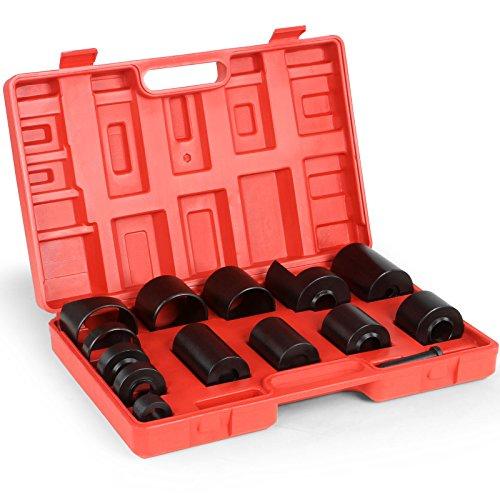 Timbertech Kugelgelenk Abzieher set Traggelenk Werkzeug Ausdrücker im praktischen Kunststoffkoffer mit 14 Teilen aus Carbonstahl