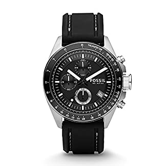 Fossil Decker Chronograph Black Dial Men's Watch – CH2573