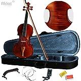 Aklot pour violon 4/4Taille complète Naturel acoustique Violon avec étui Bow Épaulière Tuner Colophane pour violon Bois Instruments de musique Violin C Style