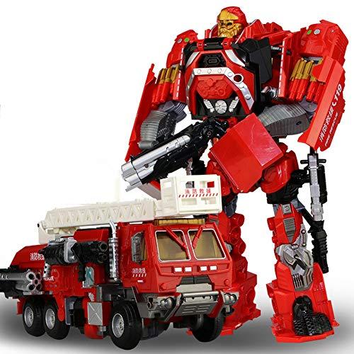 CJ Juguete Transformers Modelo de Robot de camión de Bomberos,Red