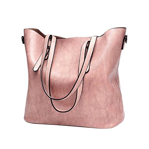 ❤HappyQn❤ Damen Vintage Tote Beutel Schultertasche Handtasche Mode Handtasche Messenger Bag -