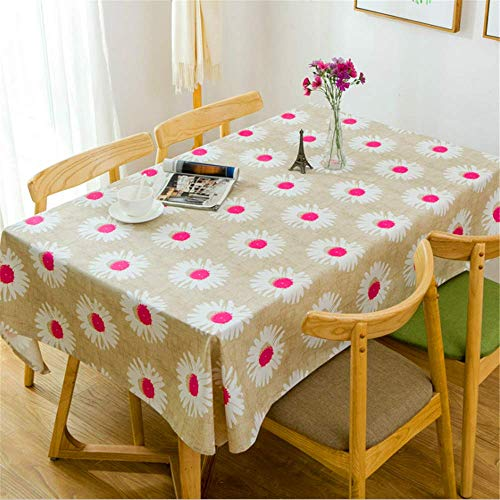 SONGHJ Baumwolle Leinwand Sonnenblume Dekorative Tischdecke Wasserdicht Ölbeständig Dick Rechteckig Hochzeit Esstisch Abdeckung Tee Tischdecke C 90x90 cm -