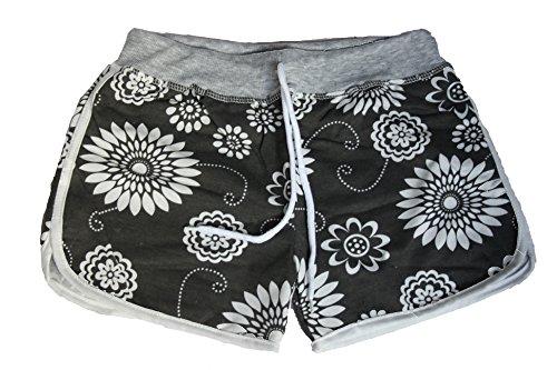 By Samanthajane Clothing - Short - Femme Grey Flowered