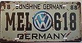 Vintage estilo sol Alemania Volkswagen Retro pared placa la matrícula del coche en inglés (Metal, 30x 15cm