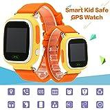 KKmoon GPS Orologio Intelligente per Sicurezza di Bambino Orologio da Polso SOS Chiamata Monitor Cercatore di Posizione Localizzatore per Bambini Monitor d'Anti Perso Inseguitore di Bimbo