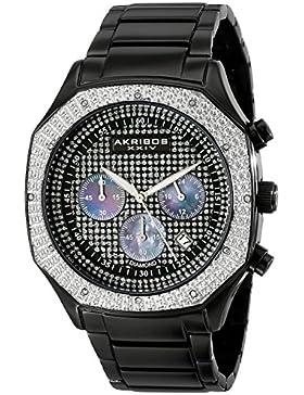 Akribos XXIV Herren Analog Display Japanisches Quartz Black Watch
