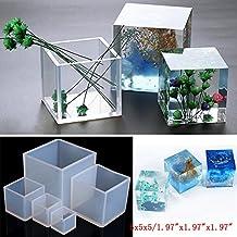 Jiamins Moldes de Silicona Cube DIY para Hacer Joyas, Herramienta de Resina, Molde de