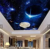 Wxlsl Benutzerdefinierte Decke 3D Tapete, Fantasy-Welt-Sterne 3D Für Die Wohnzimmer Bar Ktv Deckenwand-300cmx210cm