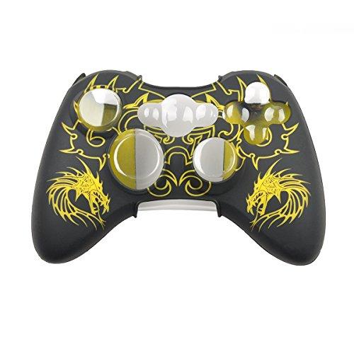 LEORX Silikon Schutzhülle Hülle für Xbox 360-Controller (gelb)